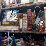 """In the library at night"" patchwork detail"