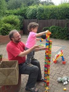 Jacob and John and bricks