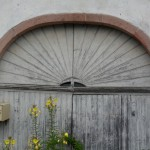 A typical old Sunburst doorway