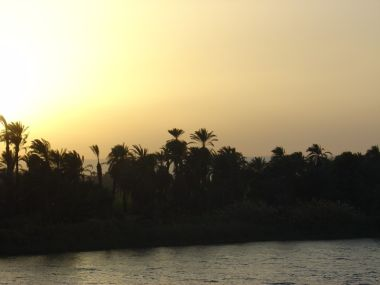 Sunset over the nile - click here