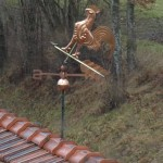 damaged weather vane